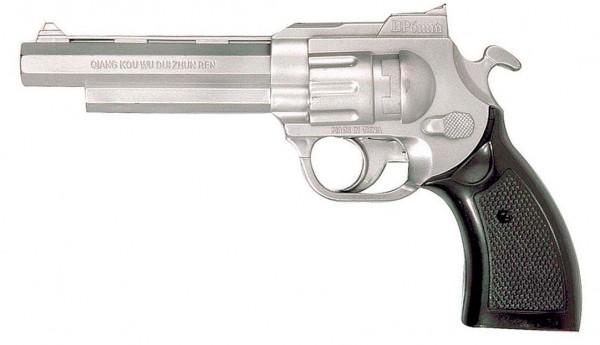 Toy Revolver Gun Silver