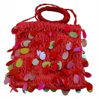 Regenbogen Pailletten Tasche