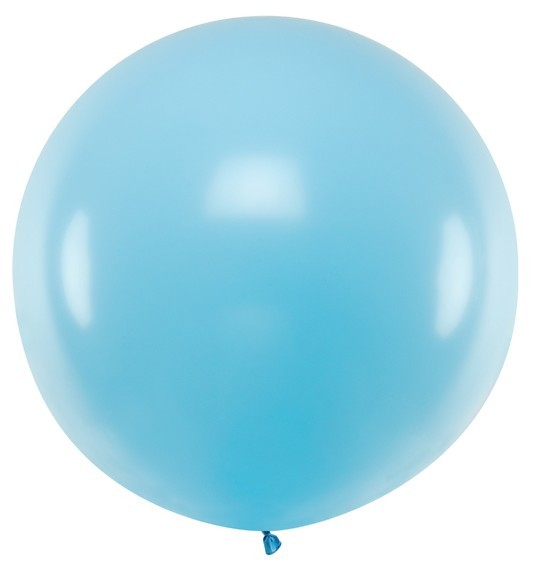 Balon lateksowy XL baby blue 1m