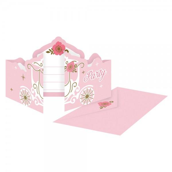 8 Princess for a Day Einladungskarten