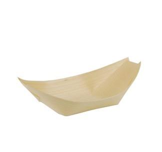 50 Holz Fingerfood Schalen Schiffchen 14 x 8,2cm