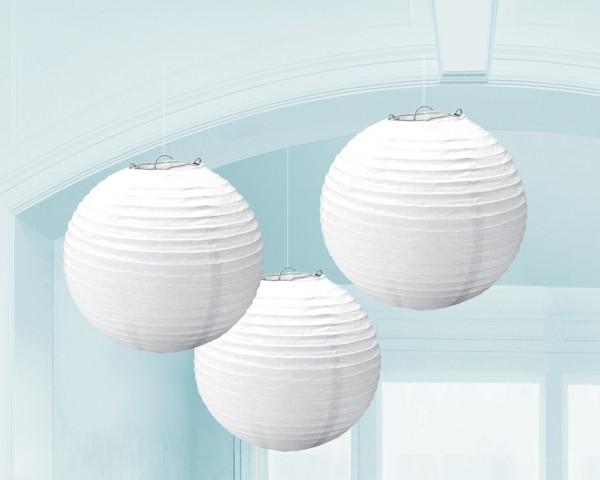 3 Summer Tale lanterns white 20cm