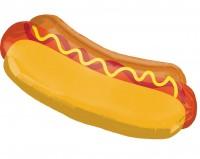 Ballon en aluminium à hot-dog souriant 83 x 38 cm