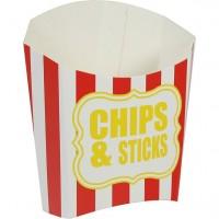 Chips Schachtel rot-weiß