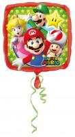 Folienballon Super Mario Family eckig