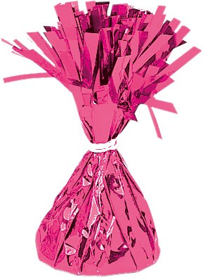 Fringed cone balloon weight in magenta