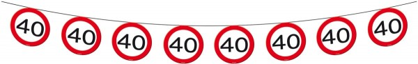 Traffic sign 40 pennant chain 12m