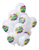 12 Latexballons Let`s Celebrate Color Splash