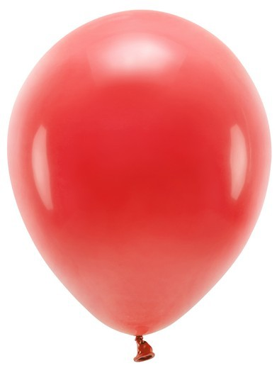 100 eco pastel balloons red 26cm