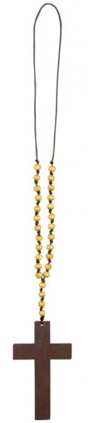 Priester Holzkreuz Halskette