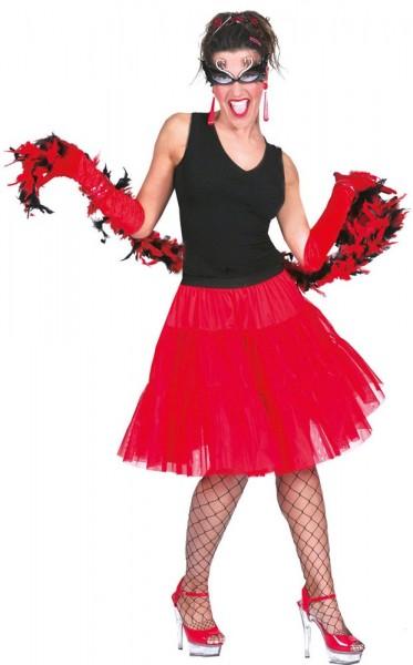 Red 80s tulle skirt