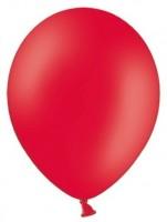 100 Partystar Luftballons rot 30cm