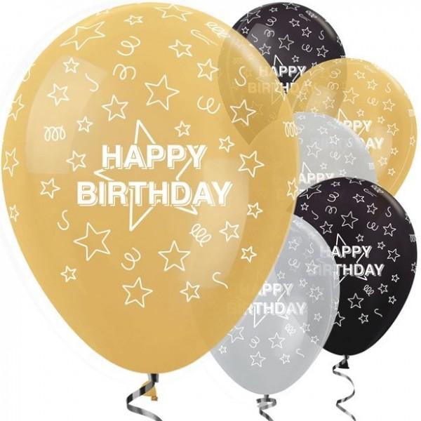25 Delightful Birthday Luftballons 30cm