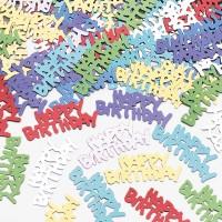Kunterbunte Happy Birthday Streudeko Metallic 14g