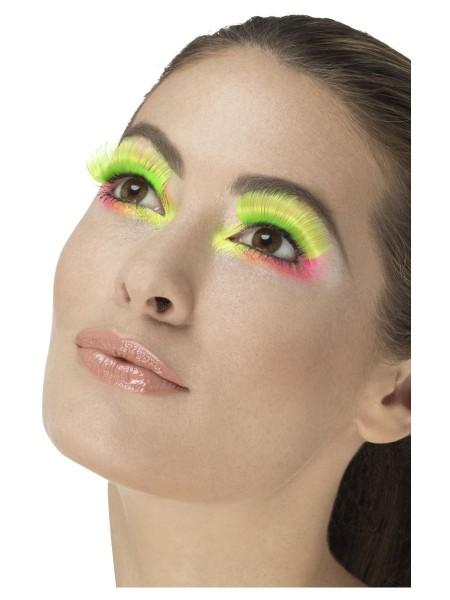 80er Jahre Neon Wimpern grün