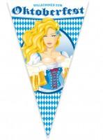 Oktoberfest Wimpel Bier Liesl 1,5m x 90cm