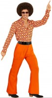 Orangefarbene Herren Schlaghose