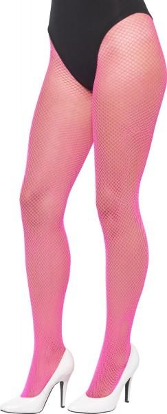 Pinke Neon Netzstrumpfhose