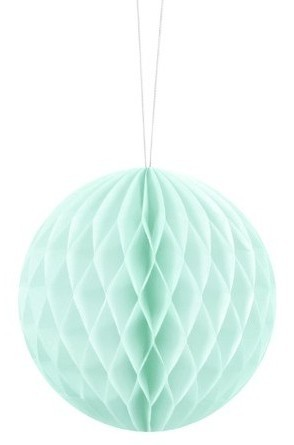 Honeycomb ball Lumina mint turquoise 10cm