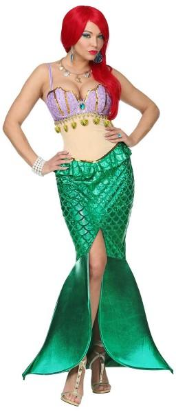Edles Meerjungfrau Mia Kostüm bauchfrei