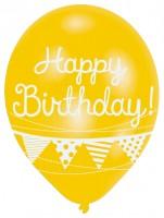 Happy Birthday Luftballon Mit Girlande 27,5cm 6er-Set