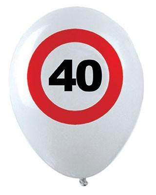 12 Verkehrsschild 40. Geburtstag Luftballons 1