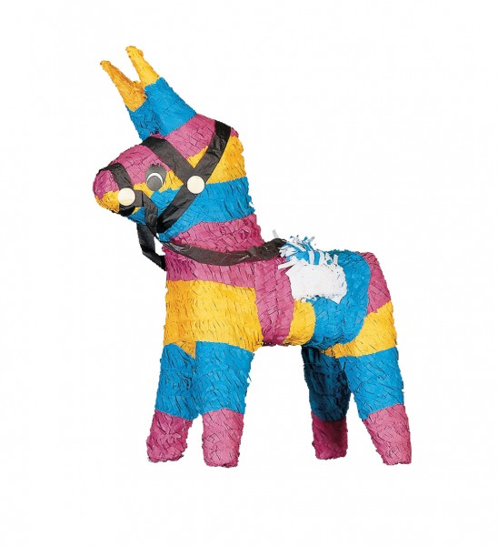 Piñata fiesta cumpleaños burro colorido 40cm