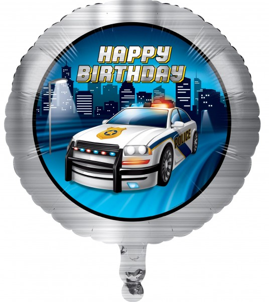 Polizei Revier Folienballon 46cm