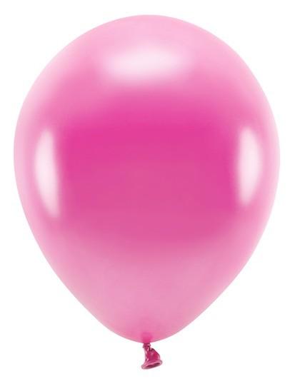 100 Eco metallic balloons pink 26cm