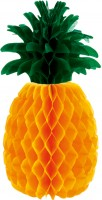Ananas Wabenball Tischdeko 30cm