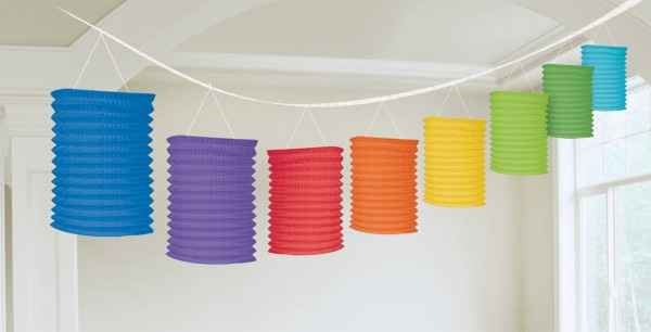 Rainbow Papier Laternen Girlande 3,65m