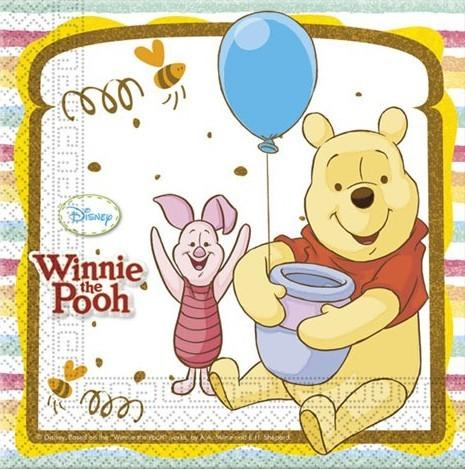 20 Winnie Puuh Servietten Honey 33cm