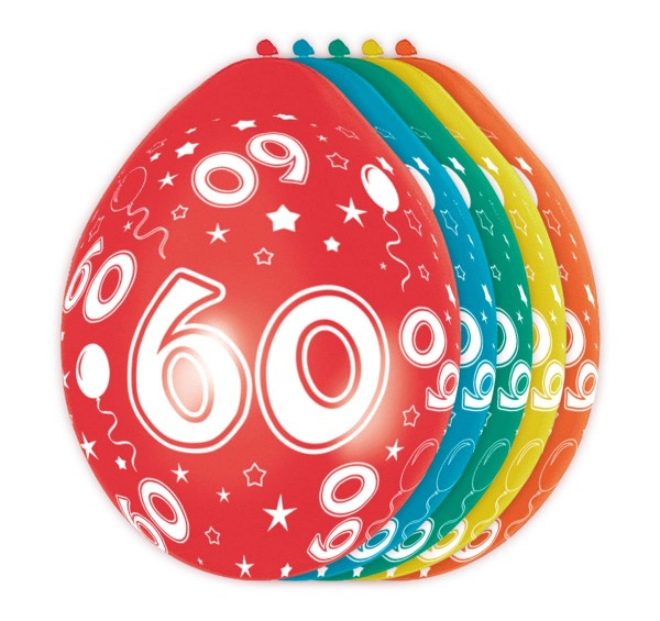 5 Ballons Big 60 30cm
