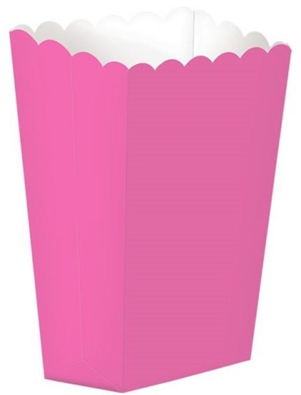 5 sachets de pop-corn rose Basel 13cm
