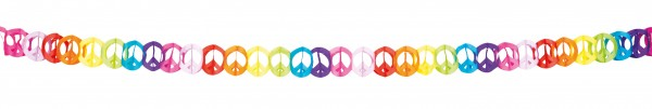 Peace Hippie Party Girlande 4m