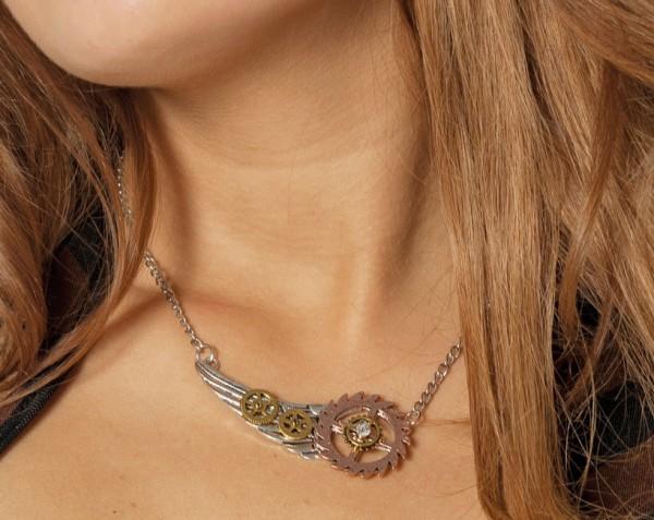 Steampunk Zahnrad Halskette 1