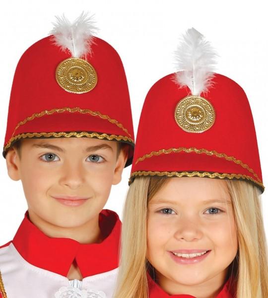 Roter Majorette Hut für Kinder