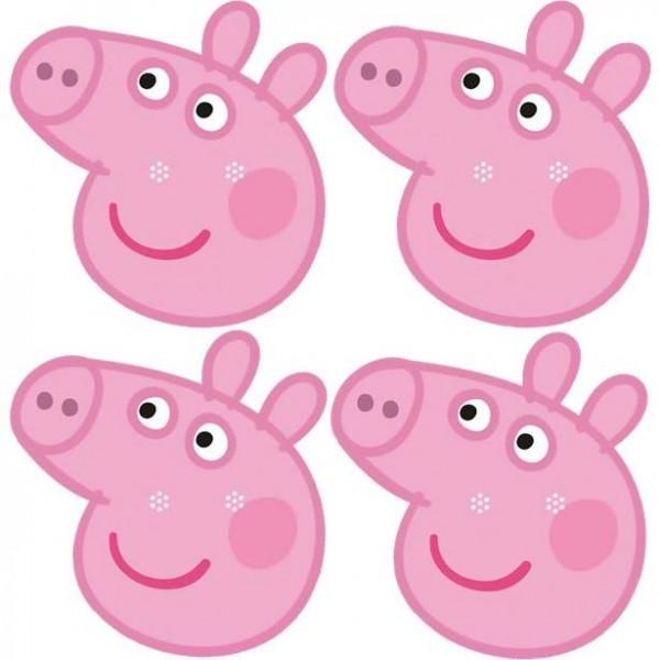 6 masques en papier Peppa Pig pour enfants
