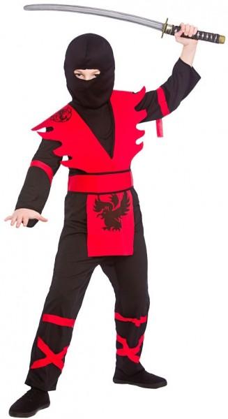 Ninja Master kinderkostuum rood