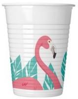 8 Flamingo Flamenco Kunststoffbecher 200ml
