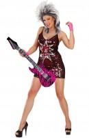 Pinky Zebra aufblasbare Gitarre 105cm