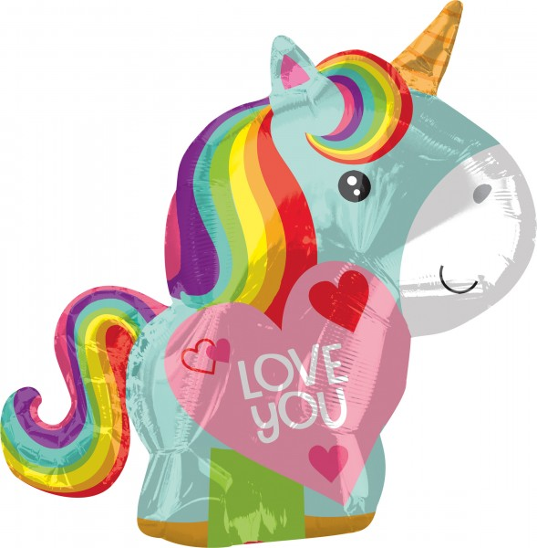 Einhorn Folienballon Love You 53cm