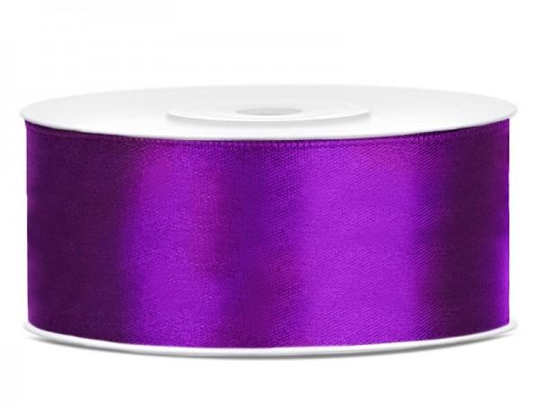 25m Satin Geschenkband lila 25mm breit