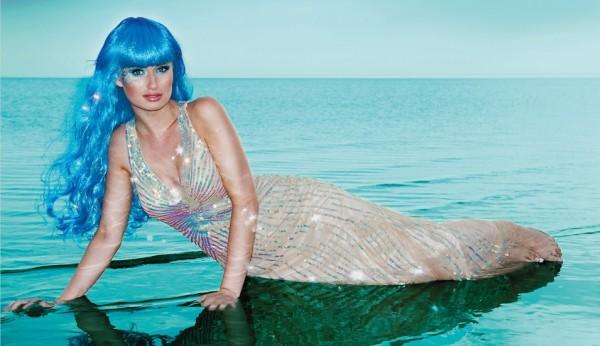 Sina Die Meeresschönheit Perücke Blau