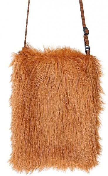 Braune Plüsch Tasche
