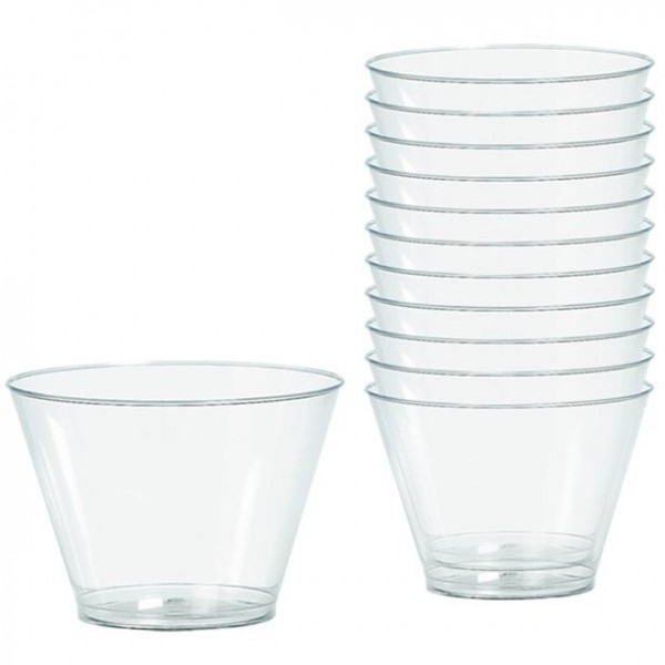 20 verres en plastique Party Treasures 255ml
