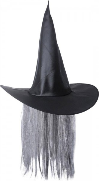 Satin Witch Hat Unisex Witcher con capelli