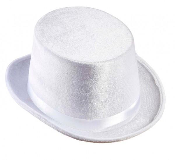 Nicky Samtoptik Zylinder In Weiß