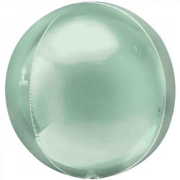 Ballon aluminium Orbz vert menthe 41cm