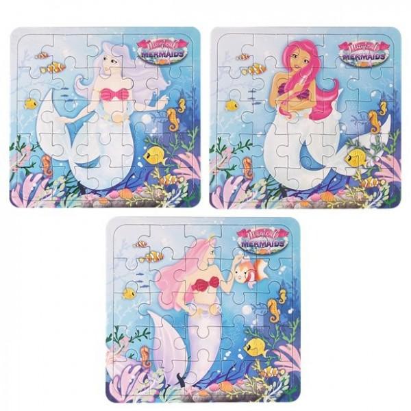 1 puzzle sirène 13 x 12 cm